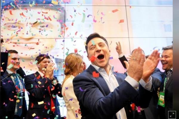 Exit Poll Pelawak Menangi Pilpres Ukraina