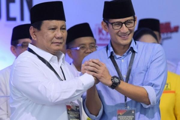 Sebentar Lagi Pasangan Prabowo-Sandiaga Uno Salip Jokowi-Ma`ruf