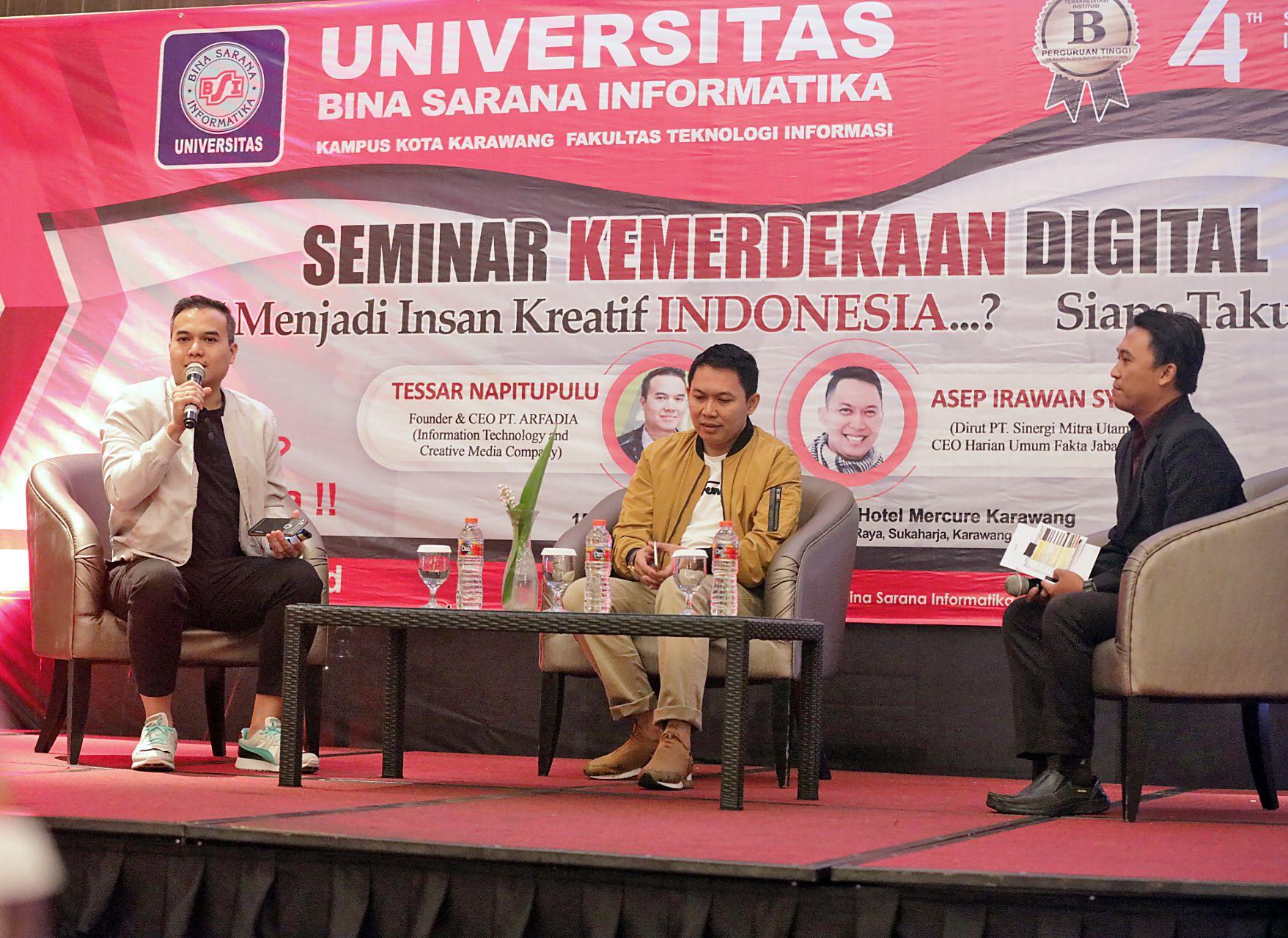 Arfadia-Seminar Kemerdekaan Digital UBSI