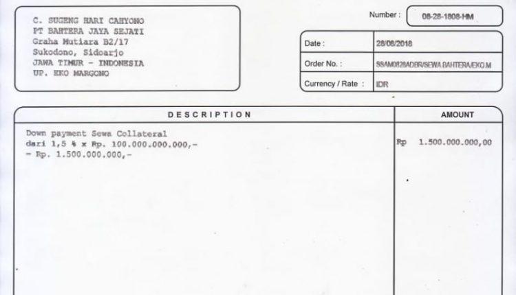 Invoice PT Sampoerna Asset Management 2