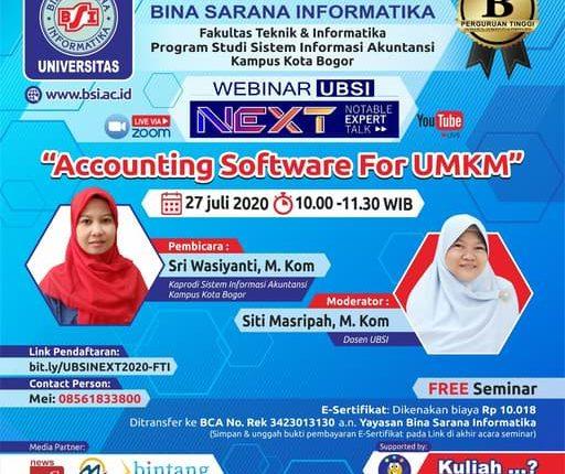 UBSI Bogor Program Studi Sistem Informasi Akuntansi Siap Menggelar Webinar Accounting – Wartawan