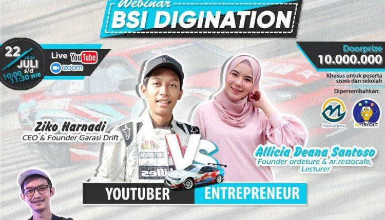 Youtuber vs Entrepreneur Muda, Berbagi Kiat Sukses di Webinar UBSI – Wartawan