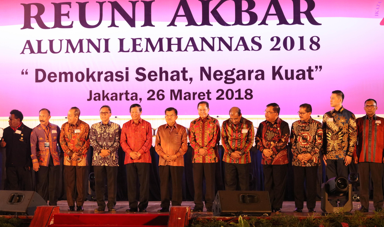 Wakil Presiden Jusuf Kalla Hadiri Reuni Akbar Alumni LEMHANNAS 2018