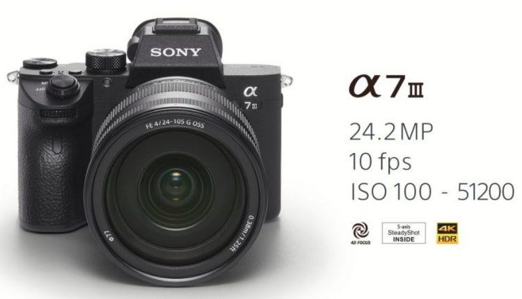 Tampak Depan kamera Sony A7 III