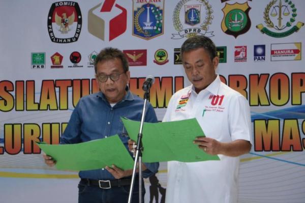 Kompak 01 dan 02 Bersama Gubernur DKI dan Instansi Lain Solid Jaga Kedamaian