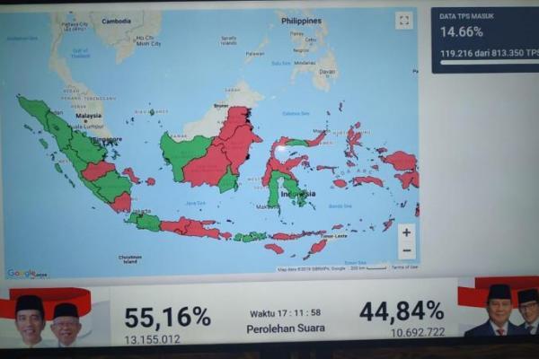 TKN Paslon Jokowi-KMA Ungkap Perolehan Suara Sementara
