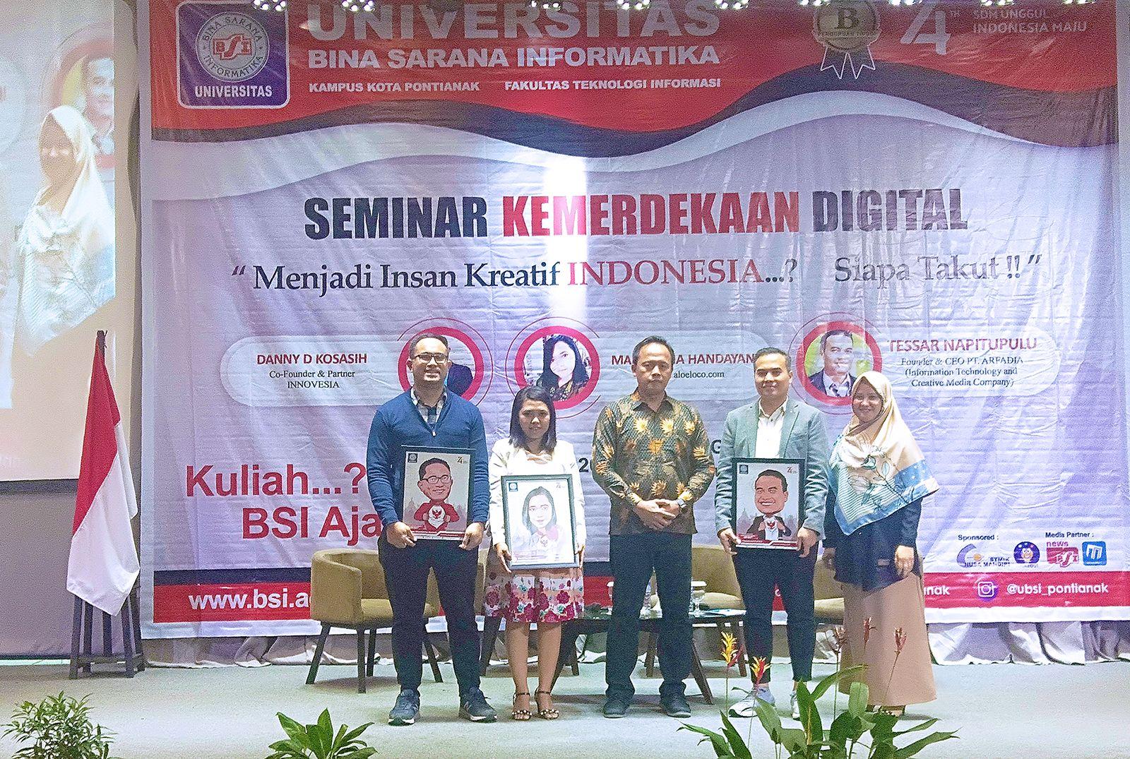 UBSI memperingati HUT RI dengan menyelenggarakan seminar yang bertemakan Seminar Kemerdekaan Digital