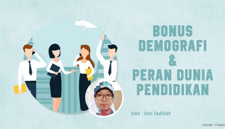 Indonesia Akan Mengalami Masa Bonus Demografi- Wartawan